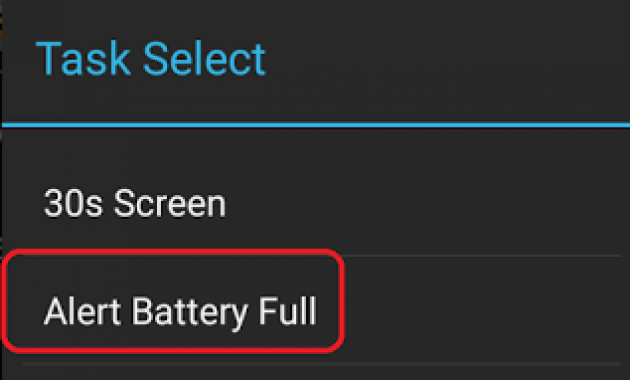 Profil Tasker Battery Full Alert