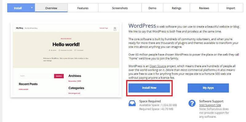 Install WordPress di DirectAdmin