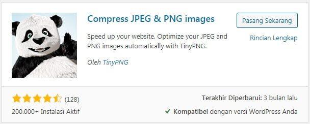 Plugin Optimasi Gambar TinyPNG Compress JPEG & PNG images