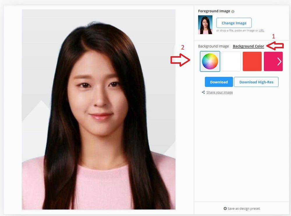 Cara Ganti Background Foto Jadi Merah atau Biru